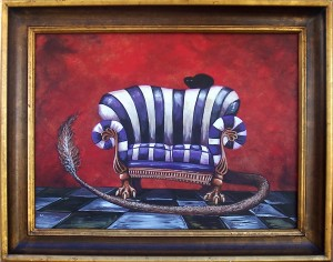 Creature comfort- painting By Kerian Massey
