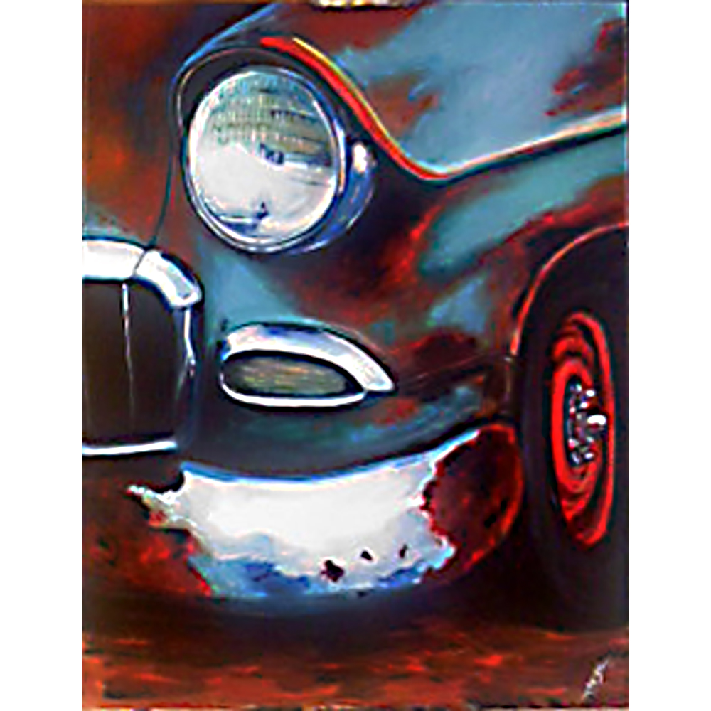 Painting of the week- Pinstripes and rust