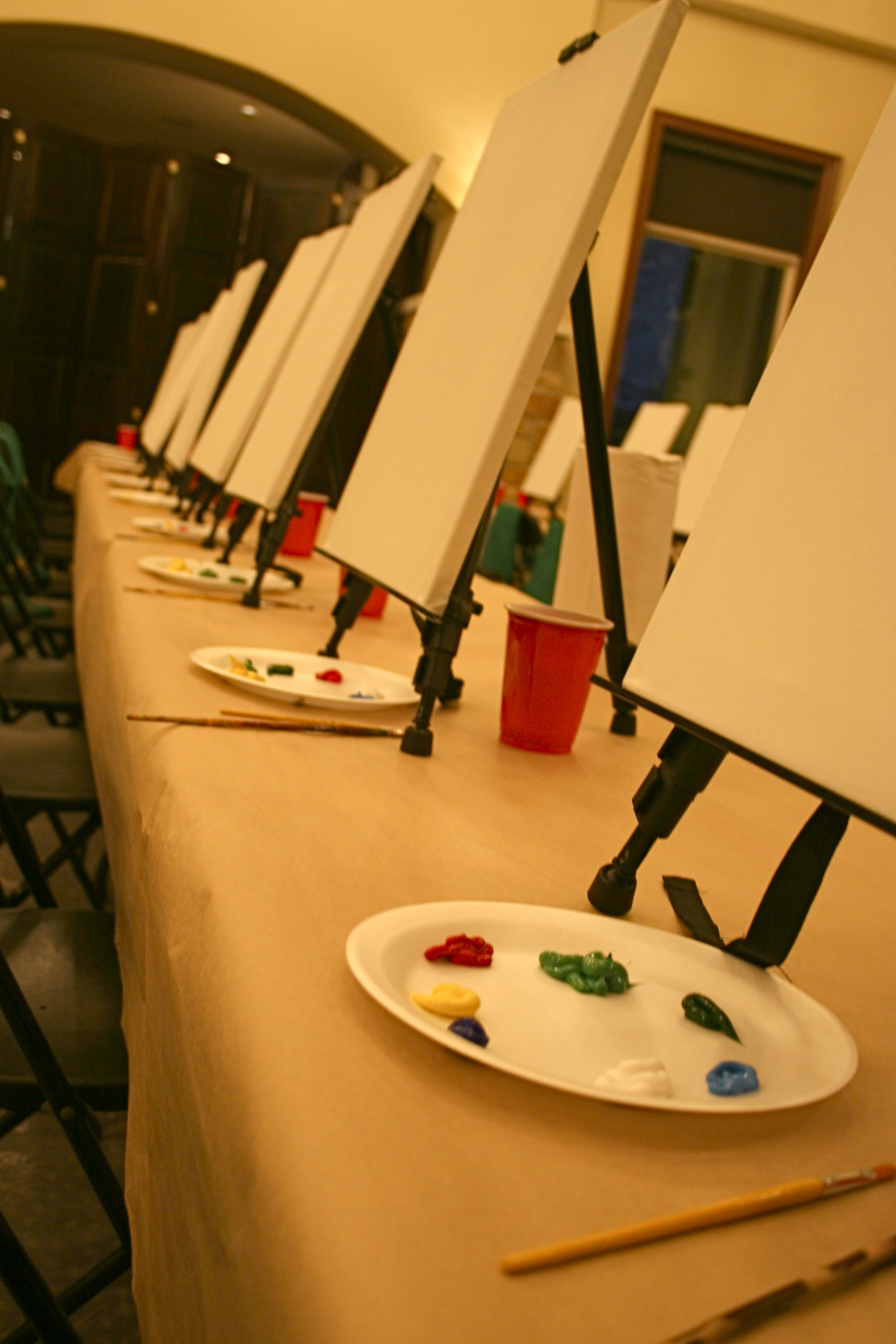 Painting and wine class