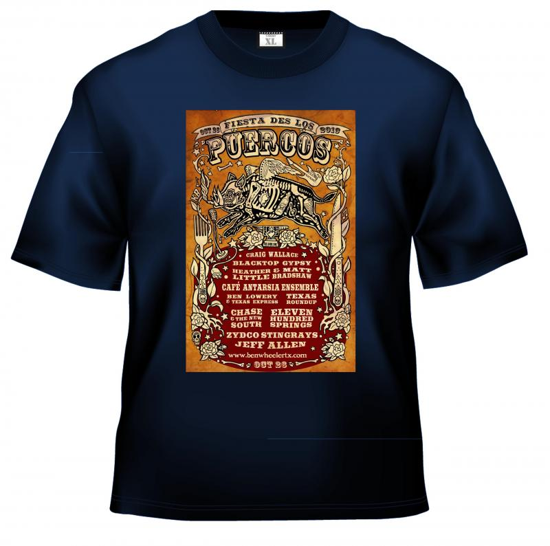 Hog Fest Pig Skeleton t-shirts
