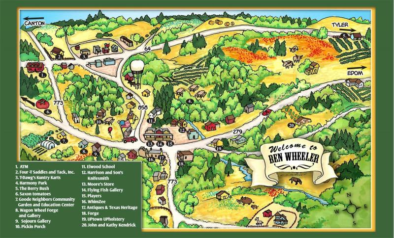 Ben wheeler town map