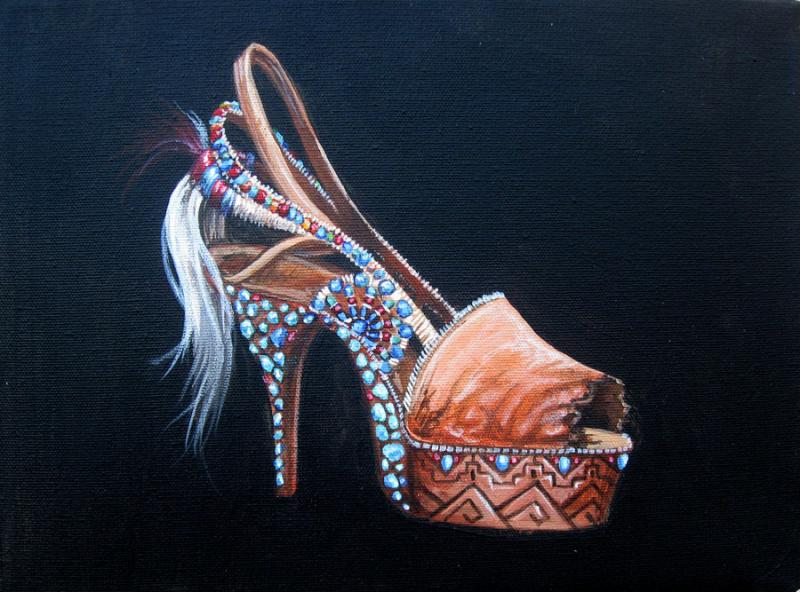 Medicine Woman shoe painting