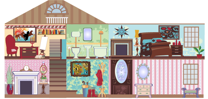 Extreme Home Makeover Dollhouse illustration